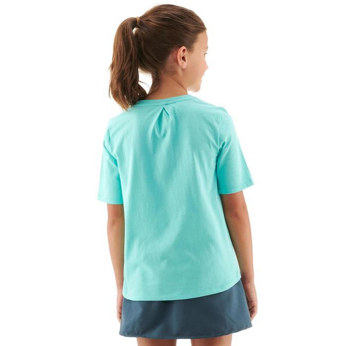 Camiseta de senderismo júnior MH100 azul turquesa 7 A 15 AÑOS