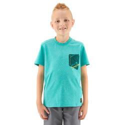 MH100 T-Shirt hiking anak - Biru hijau UMUR 7-15 TAHUN
