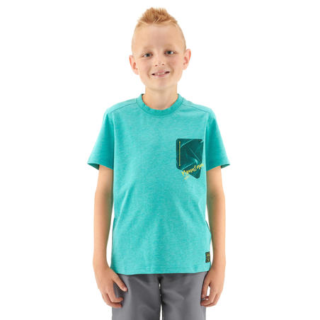 Children's Hiking T-shirt MH100 - Turquoise 7-15 YEARS