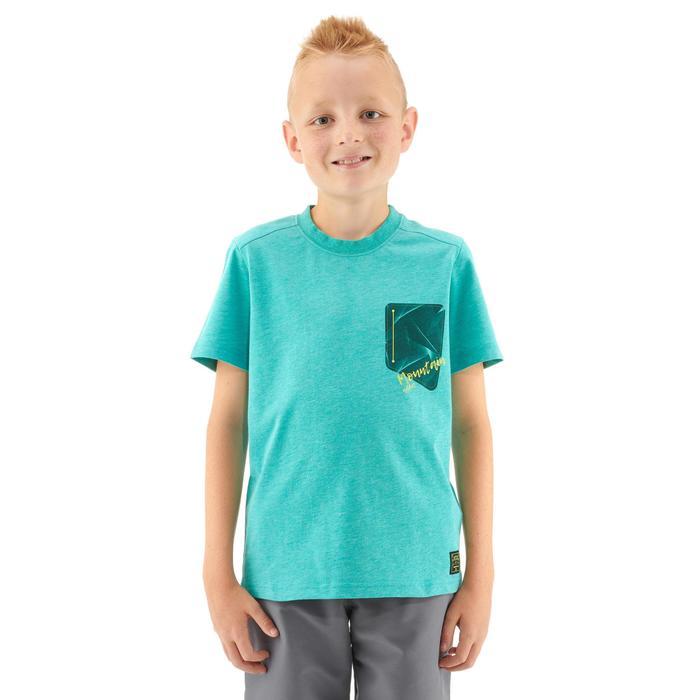 T-SHIRT de randonnée enfant MH100 turquoise 7 A 15 ANS