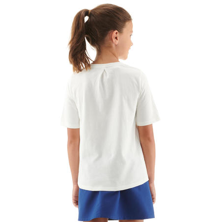 Kids' Hiking T-Shirt MH100 - White