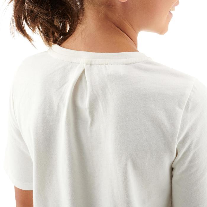 Camiseta de senderismo júnior MH100 blanco 7 A 15 AÑOS