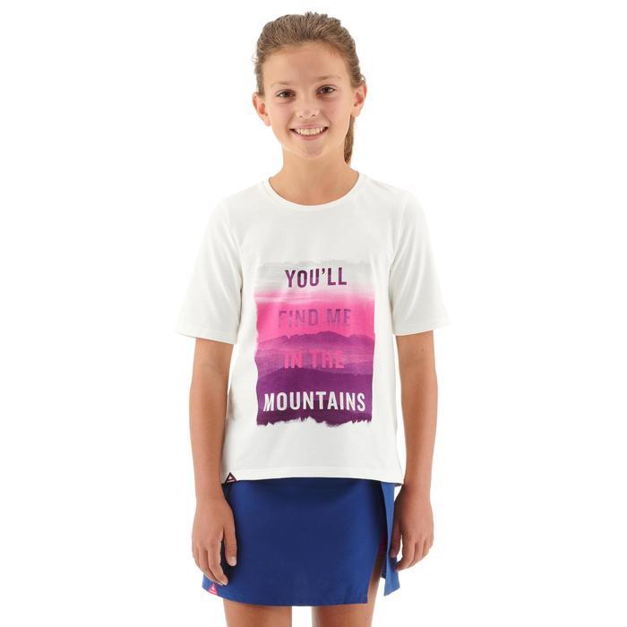 Camiseta Manga Corta de Montaña y Trekking Forclaz MH100 Blanco