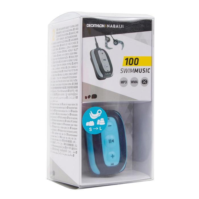 Waterdichte mp3-speler en oortjes voor zwemmen SwimMusic 100 V2 blauw