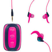 MP3 PLAYER ZA PLIVANJE SWIMMUSIC 100 V2 VODOOTPORNI SA SLUŠALICAMA RUŽIČASTI