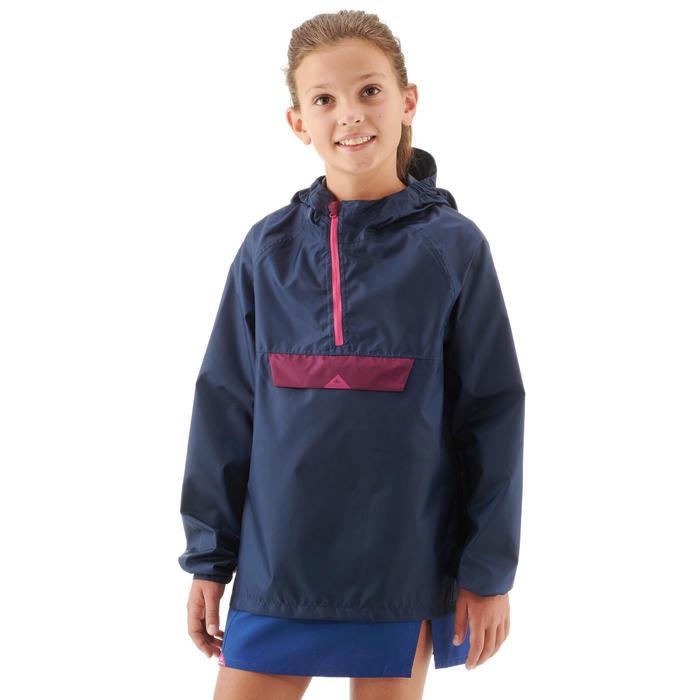 Chaqueta Impermeable Montaña y Trekking Niño 7-16 años Azul/rosa