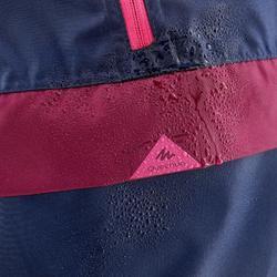 Veste imperméable de randonnée - MH100 bleu marine et rose - enfant 7-15 ans