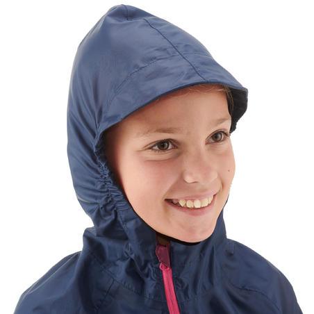 Дитячий дощовик 100 для туризму - Темно-синій/Рожевий