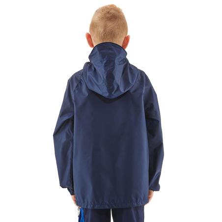 Chamarra impermeable de senderismo para niños MH100 azul marino