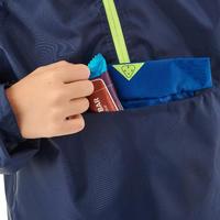 Veste imperméable de randonnée - MH100 bleu marine - enfant 7-15 ans