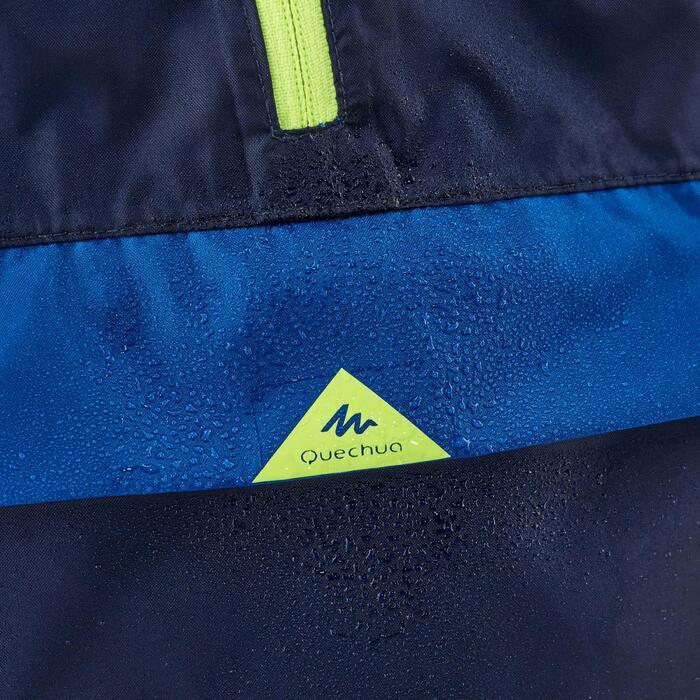 Veste de pluie de randonnée pour enfant MH100 bleue marine