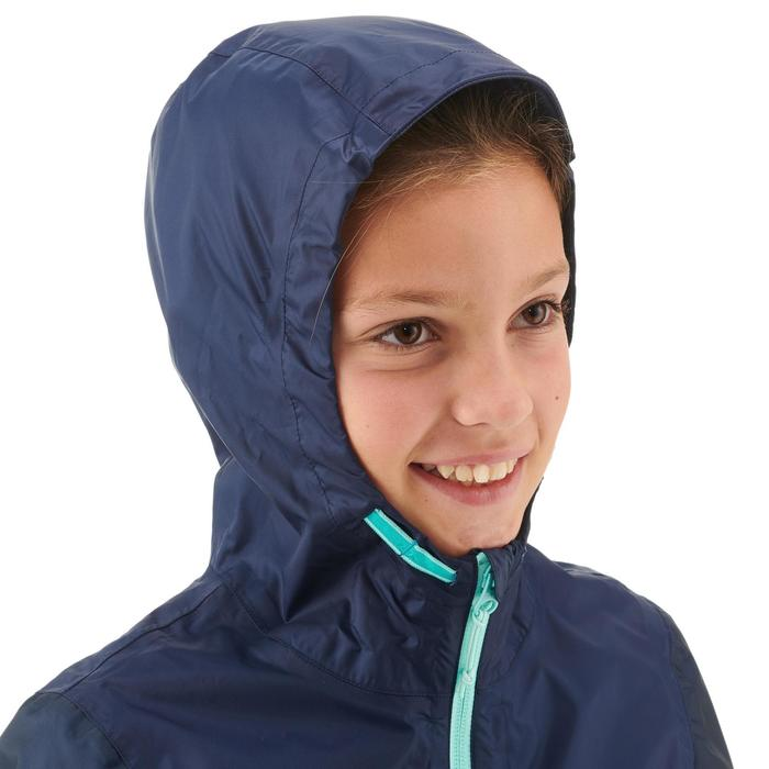 Veste imperméable de randonnée enfant MH150 dégradé turquoise 7 A 15 ANS