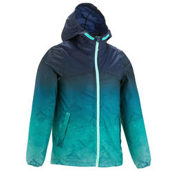 Veste imperméable de randonnée enfant MH150 dégradé turquoise 7 À 15 ANS