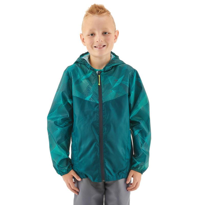Kid's Raincoat MH150 (Age 7 to 15 Years) - Turquoise Print