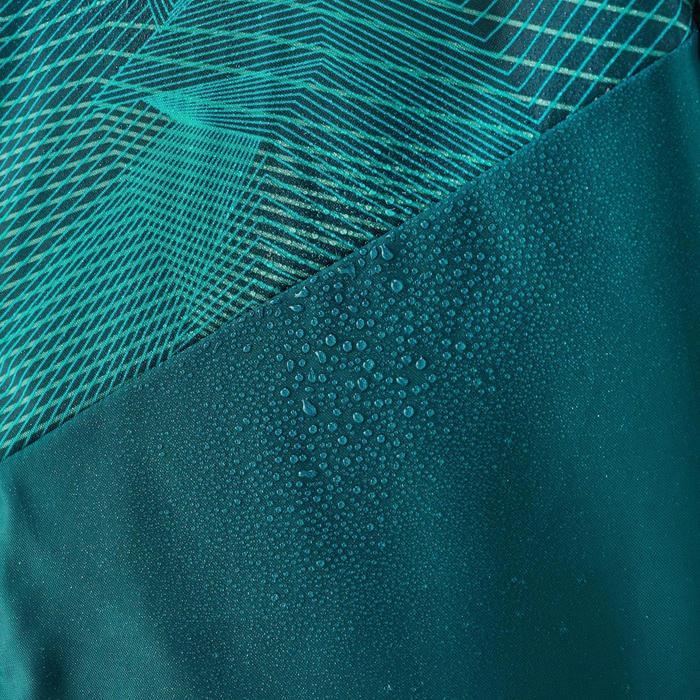 Waterdichte wandeljas voor jongens MH150 print turquoise 7 tot 15 jaar