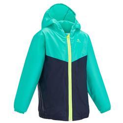 Veste imperméable de randonnée enfant MH150 bleue/turquoise 2 AU 6 ANS