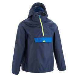 Kids Hiking waterproof jacket - MH100 - Navy blue