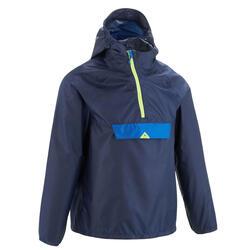 Chaqueta impermeable de senderismo para niños MH100 azul marino