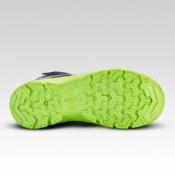 Chaussures de randonnée enfant montantes avec scratch MH120 MID grises 28 AU 34
