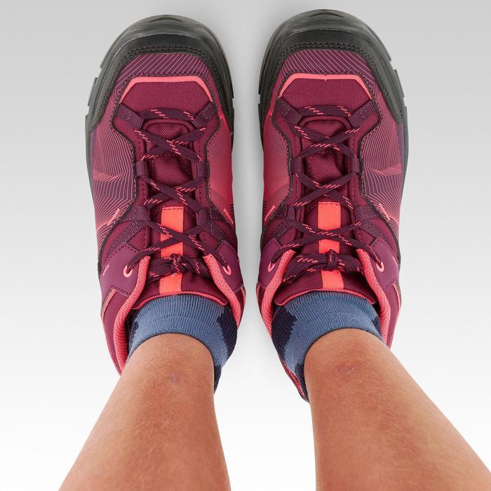 Chaussures de randonnée enfant basses avec lacet MH120 LOW violettes 35 AU 38
