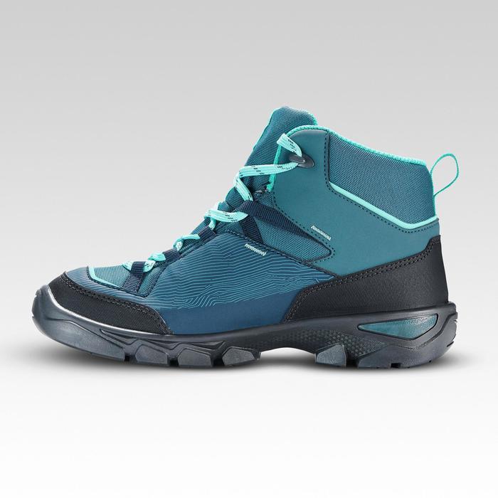 Waterdichte halfhoge wandelschoenen voor kinderen MH120 turquoise 35 tot 38