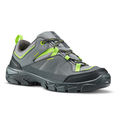 sports shoes 92309 292b5 Children s low hiking shoes with Low MH120 Lace - Grey 35 to 38