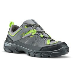 兒童款低筒綁帶健行鞋MH120 35號至38號-灰色
