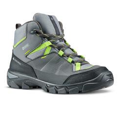 Waterdichte hoge wandelschoenen voor kinderen MH120 mid grijs 35 tot 38