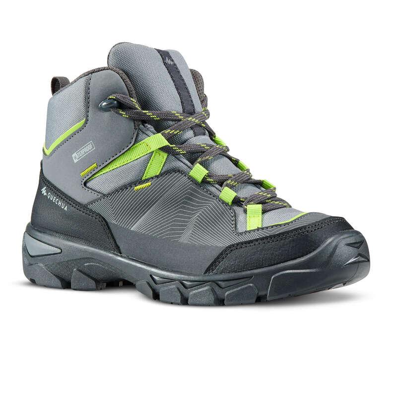 SCARPE BAMBINO Sport di Montagna - Scarpe junior MH120 MID grigie QUECHUA - Scarpe e accessori trekking
