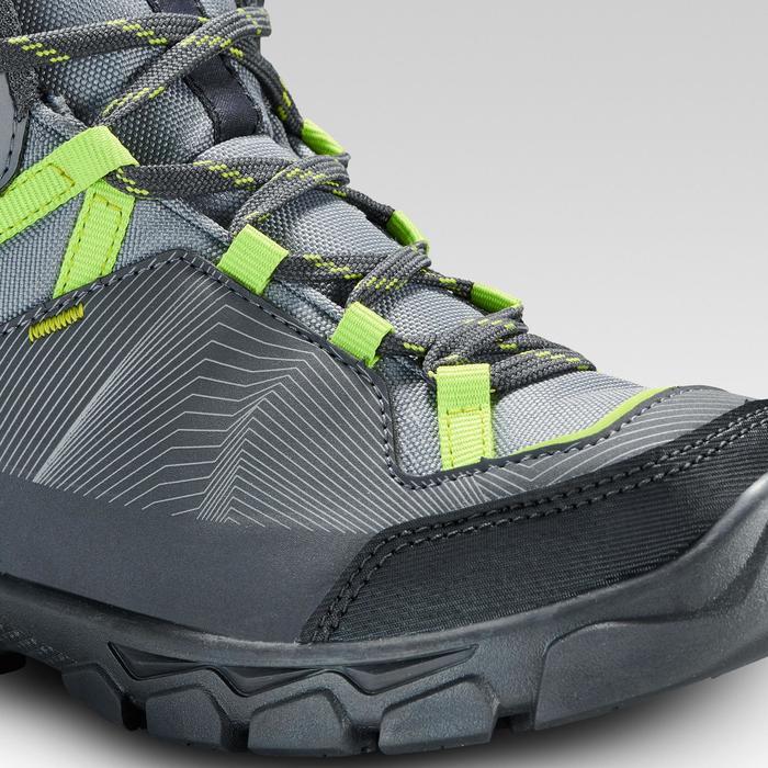Hoge waterdichte wandelschoenen voor kinderen MH120 mid grijs 35 tot 38