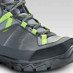 Waterdichte halfhoge wandelschoenen voor kinderen MH120 grijs 35 tot 38