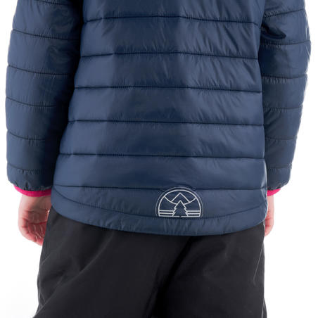 Kids Hiking Padded Jacket MH Navy Blue