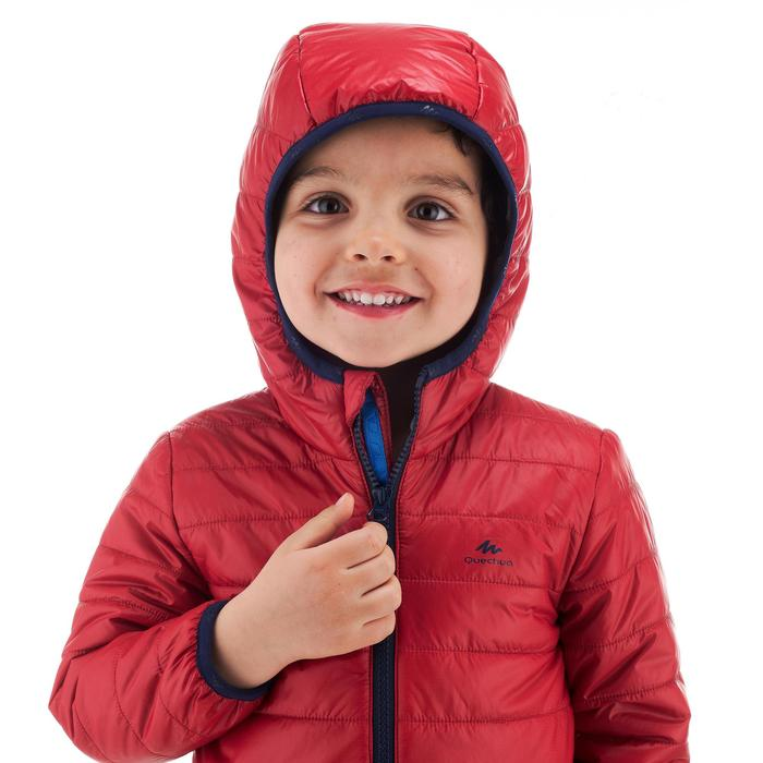 Gewatteerde wandeljas voor kinderen MH500 bordeaux 2-6 jaar