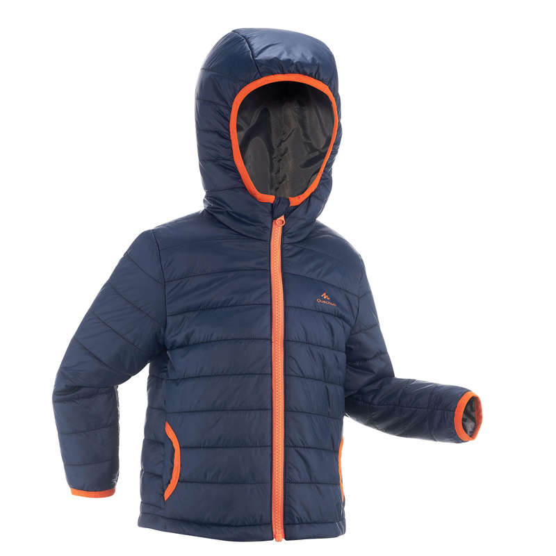 PILE E SOFTSHELL BAMBINO 2-6 ANNI Sport di Montagna - Piumino bambino 2-6 anni MH500 blu QUECHUA - Trekking bambino
