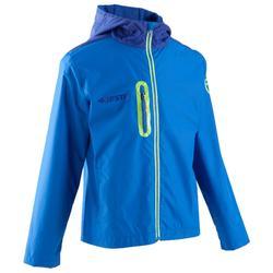 Chaqueta impermeable de fútbol júnior T500 azul