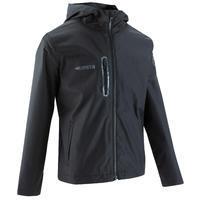 T500 Soccer Rain Jacket Black - Kids'