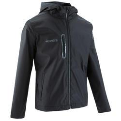 Veste imperméable de soccer enfant T500 noire