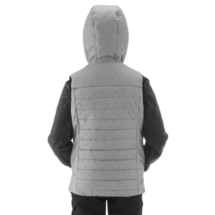 Wattierte Weste Wandern MH500 Kinder 123-172cm grau