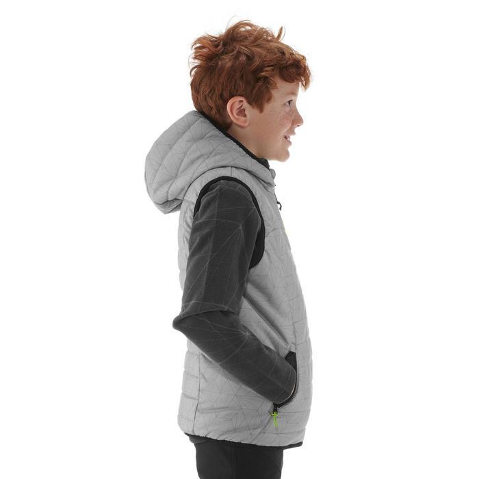Gewatteerde bodywarmer voor wandelen kinderen MH500 grijs 7- 15 jaar