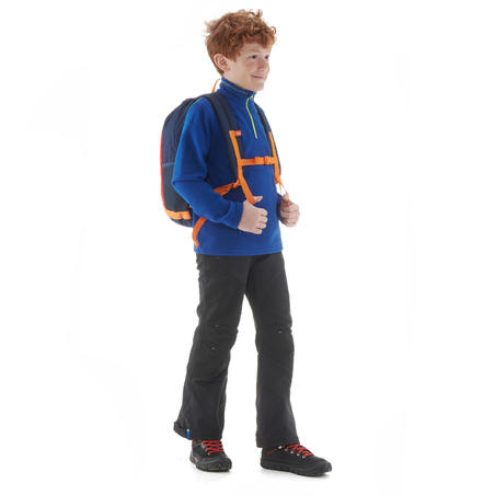 Sudadera polar de montaña trekking niños 7-15 años MH100 azul