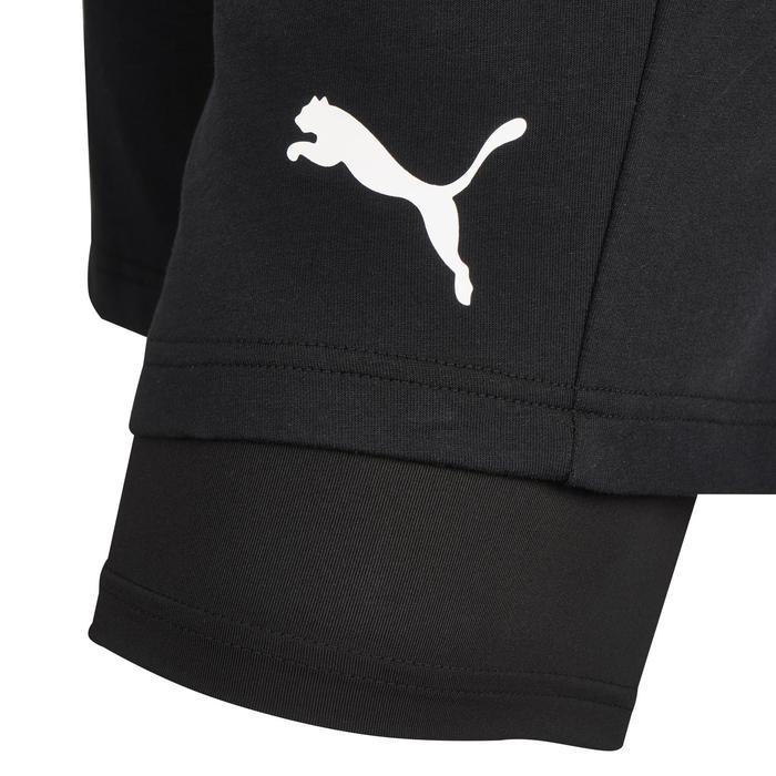 Short Puma 2en1 500 Pilates Gym douce noir homme