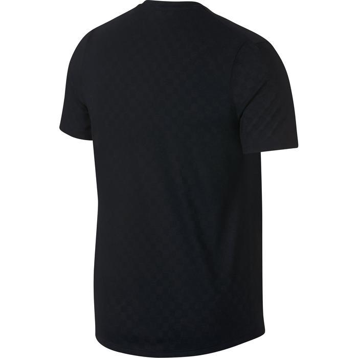 T-shirt heren tennis Challenger Crew zwart