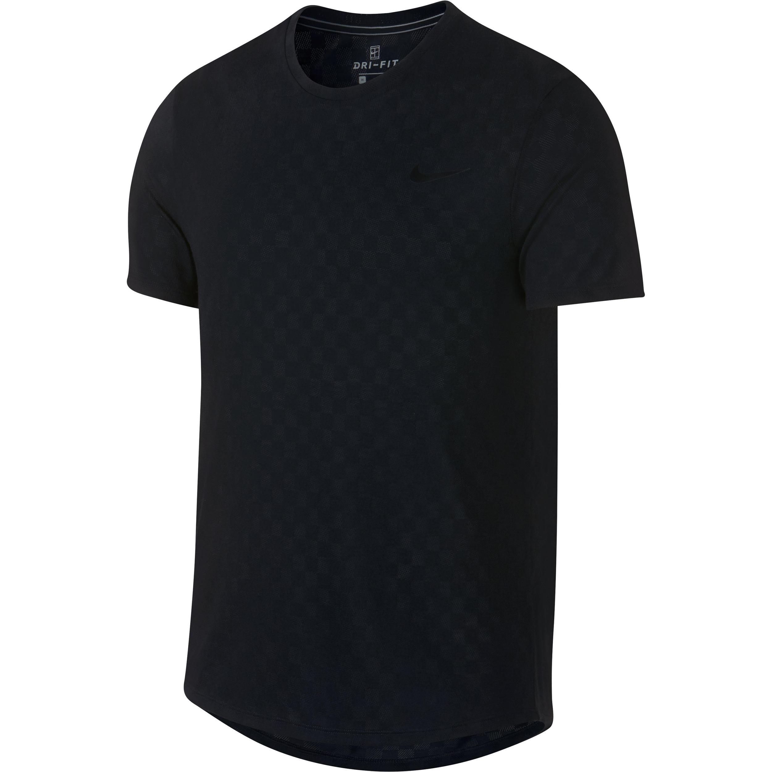 c1e11d316f3 Nike T-shirt heren tennis Challenger Crew zwart | Decathlon.nl