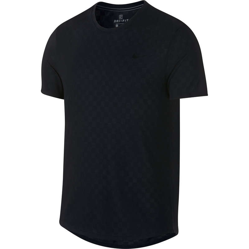 Îmbrăcăminte respirantă bărbați Sporturi cu racheta - Tricou CHALLENGER CREW Bărbați NIKE - Imbracaminte padel
