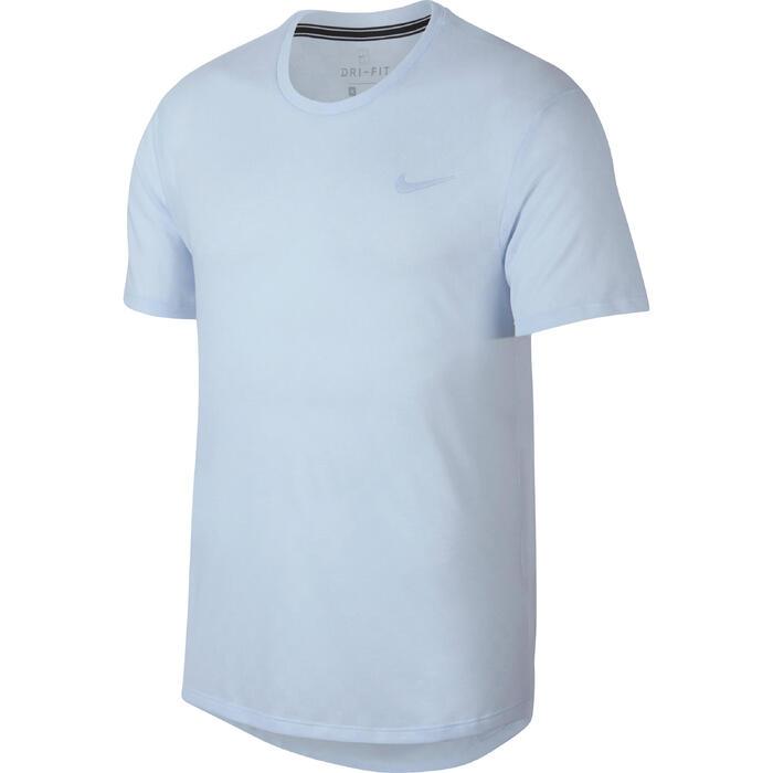 T-shirt voor tennis heren Challenger Crew blauw