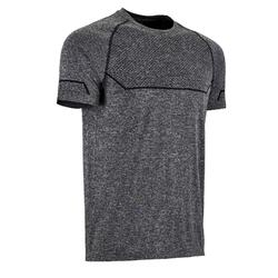 T-Shirt Seamless Fitness Cardio Herren grau