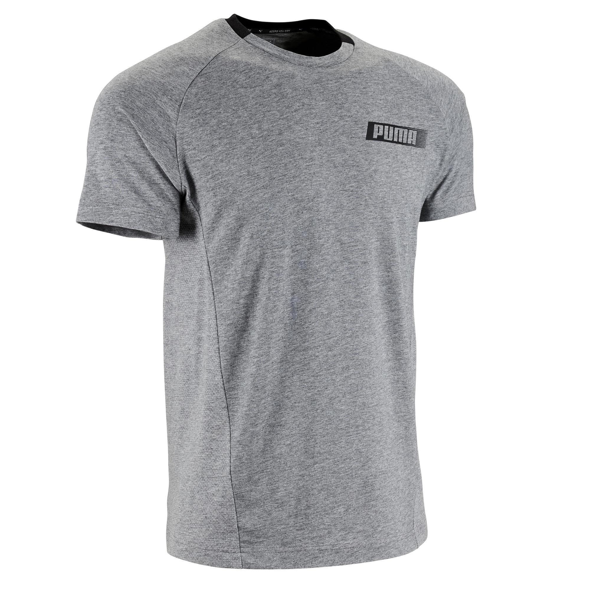 Puma T-shirt voor gym Puma Active 1 500 lichte gym pilates heren grijs