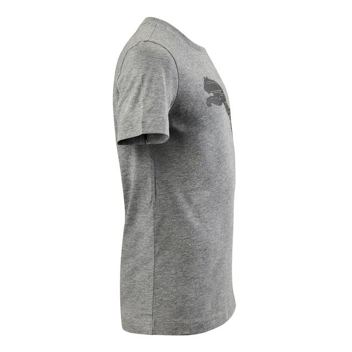 T-Shirt gris coupe regular gros logo coton PUMA