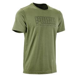 T-Shirt 100 Pilates sanfte Gym Herren grün