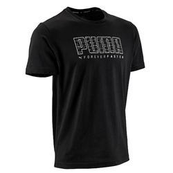 T-Shirt 100 Pilates sanfte Gymnastik schwarz